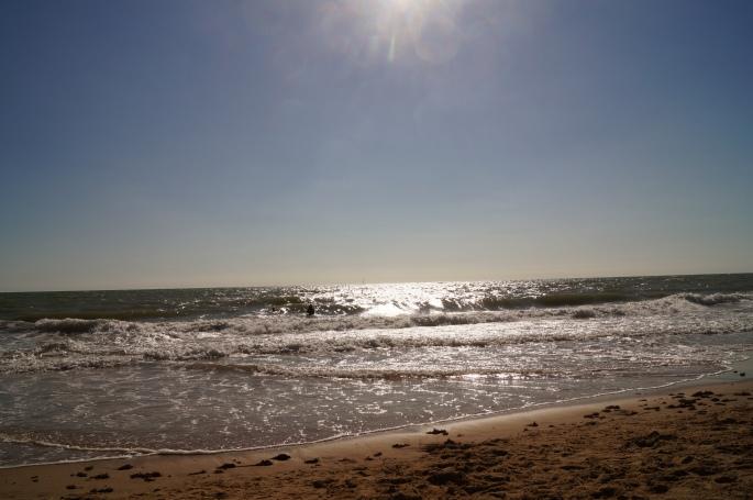 Atardecer en la playa de La Ballena en Rota (Cádiz)
